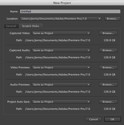 where are scratch disks in premiere pro cc