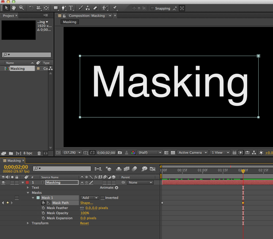 Mask vs Shape Layers in After Effects - The Beat: A Blog by