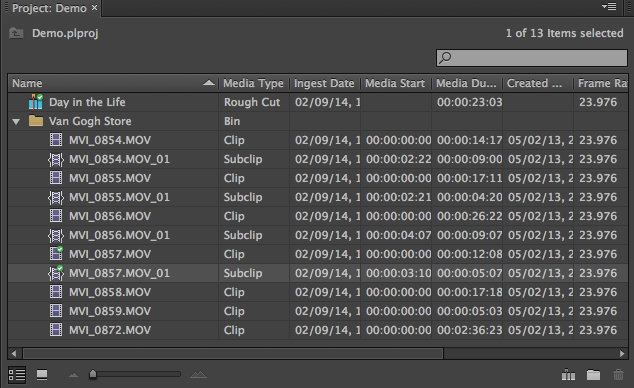 In My Example I Have Created A Bin And Rough Cut Prelude That Now Want To Get Into Premiere Pro
