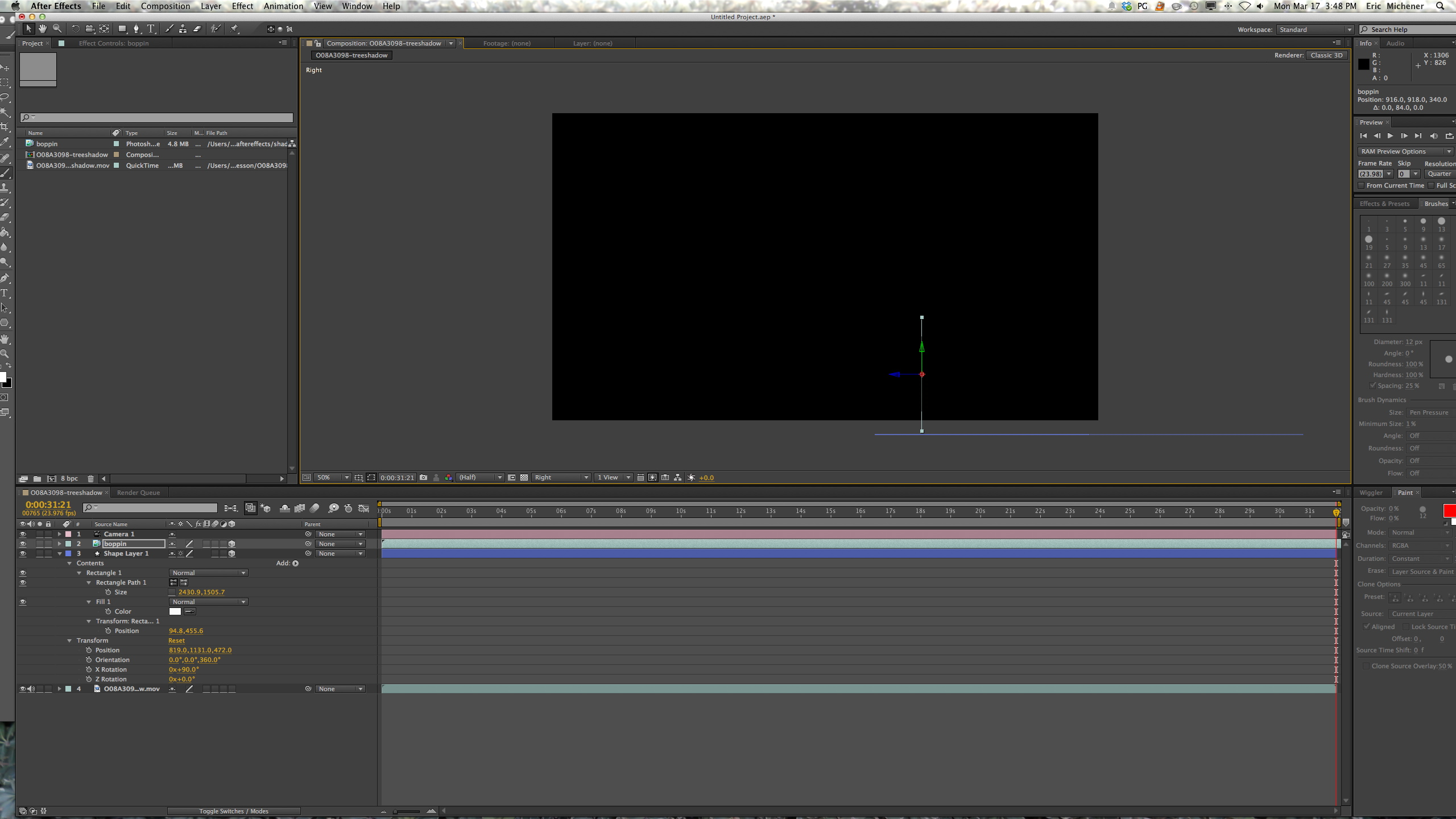 Shape Layer Settings After Effects