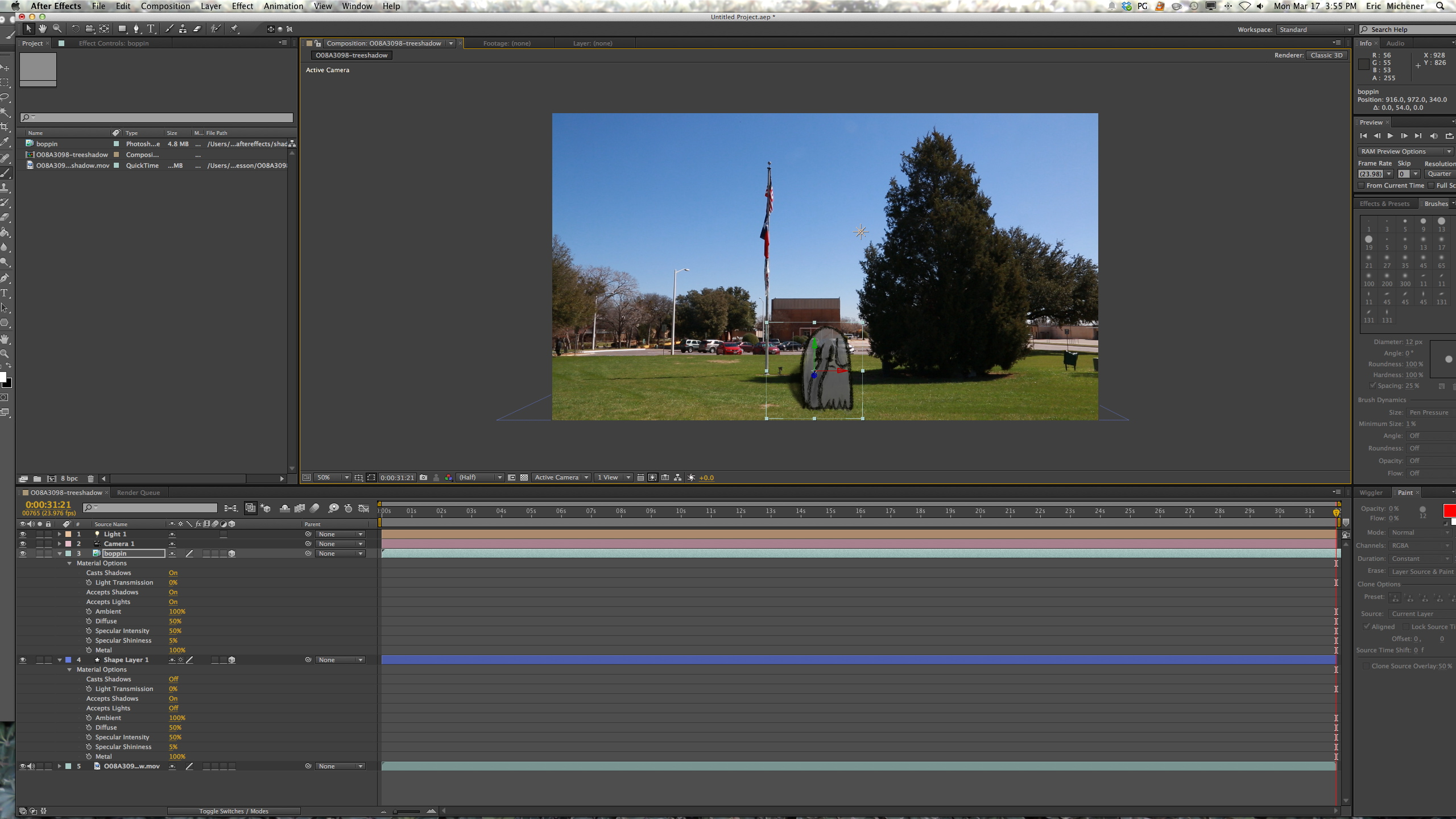 Light Shadows After Effects