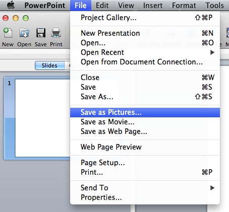 how to save powerpoint as jpeg