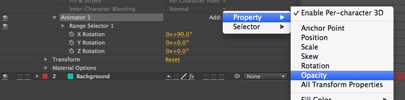 Animator 1 Opacity