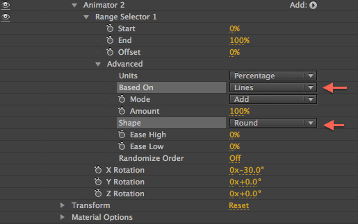 Animator 2 RS Settings