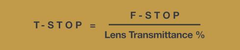 Understanding Lenses: Aperture, F-Stops & T-Stops T-stop-formula