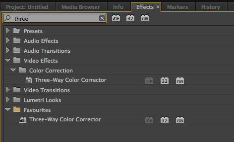 creating custom effects bin in premiere pro cc