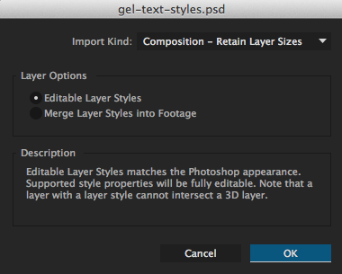 Import with Layer Styles