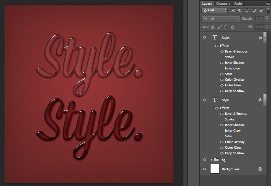 Layer Styles in Photoshop