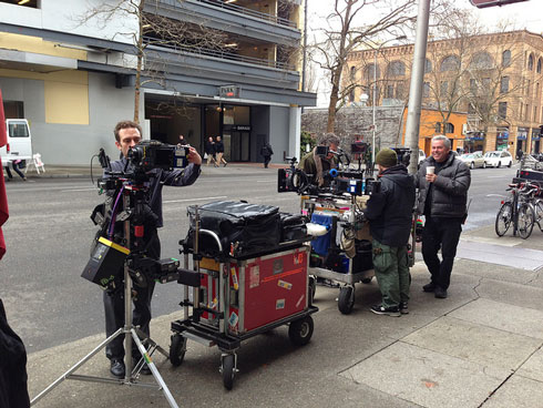 Gear On Film Set