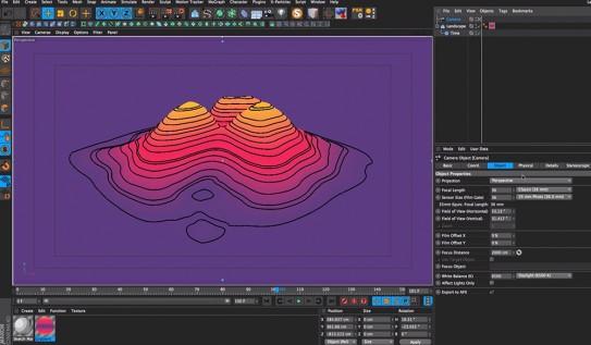 Cinema 4D Video Tutorial: Animated Elevation Maps