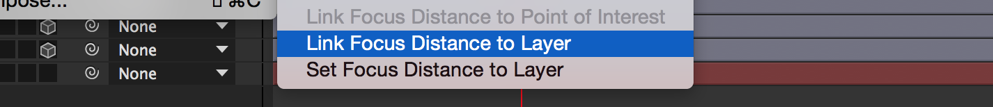 Link Focus Distance to Layer Button