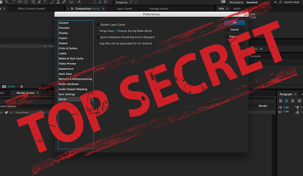 Navigating the After Effects Secret Menu
