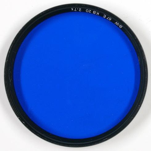 Blue lens filter