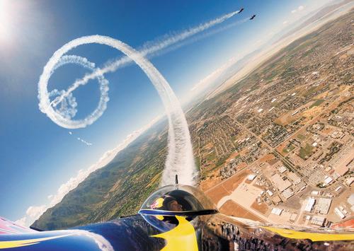 GoPro on a Plane