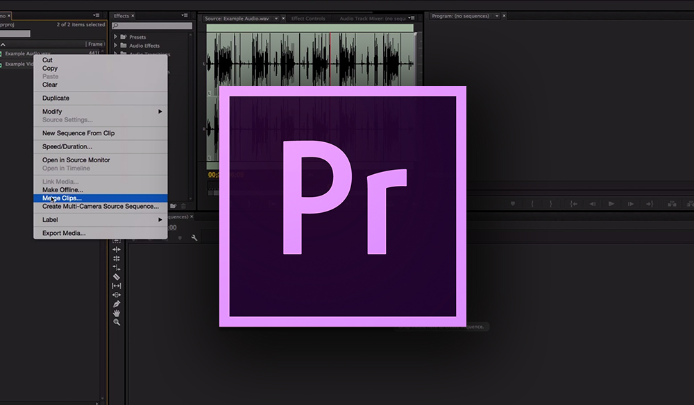 Syncing Audio in Premiere