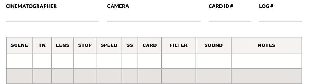 Camera Log Screenshot