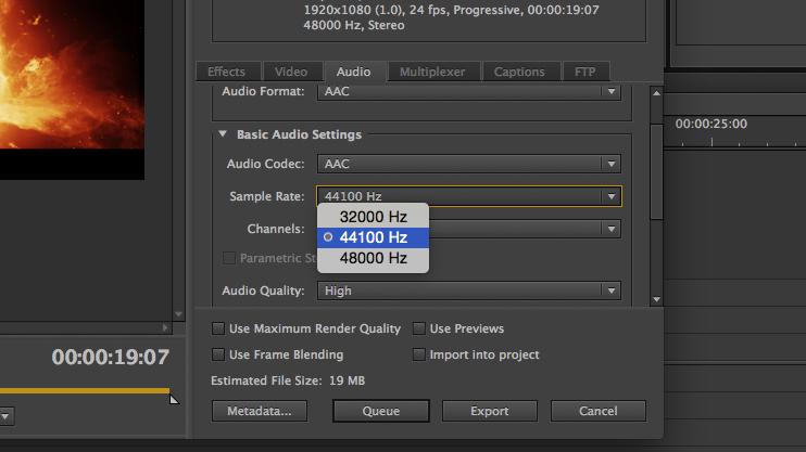 Premiere Pro CC Facebook Export: 3