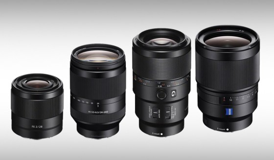 Sony Product Announcement: 4 Full-Frame E-Mount Lenses for A-Series ...