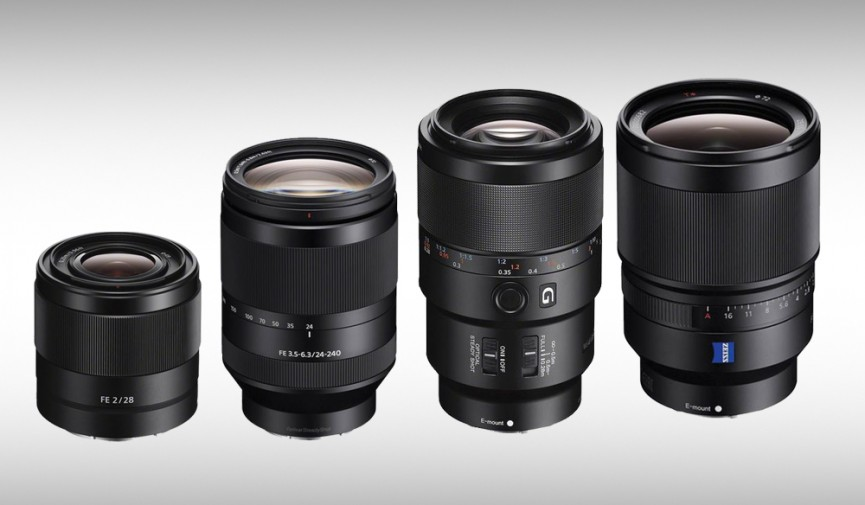 sony product announcement 4 full frame e mount lenses for a series cameras