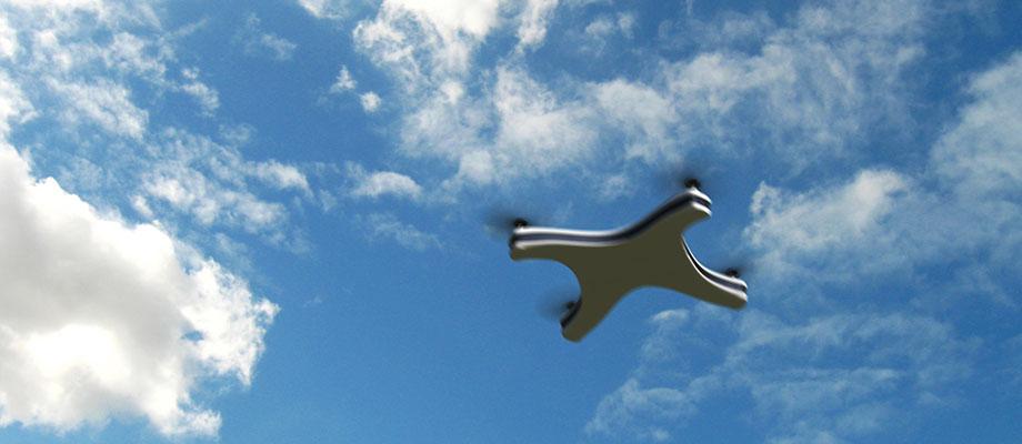 apple drone flying