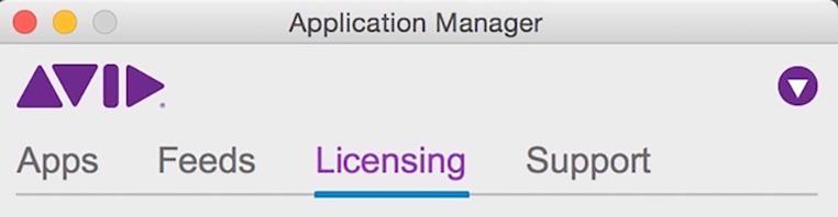 Avid Licensing Manager