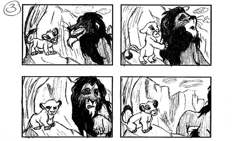 Lion King Storyboards