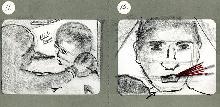 taxi driver storyboard