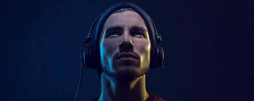 Guy Listening to Epic Music
