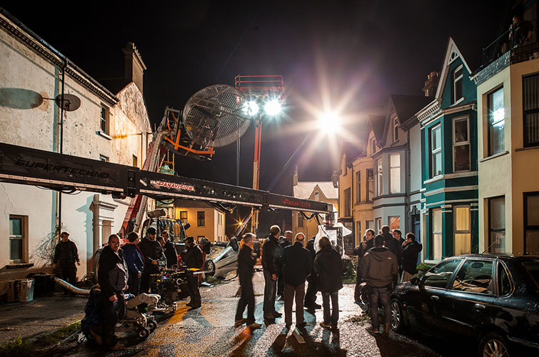film set at night