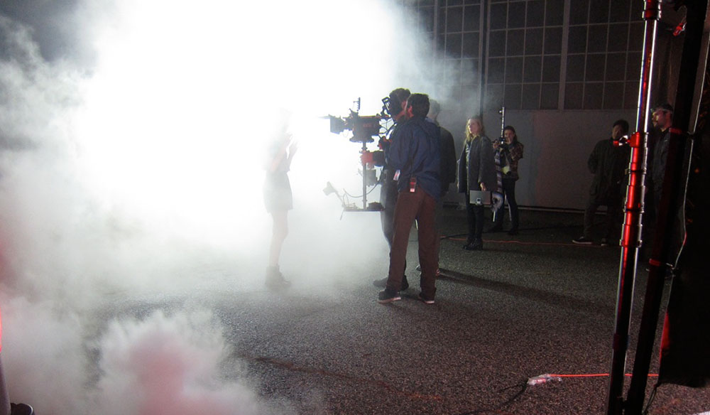 filming with fog cover