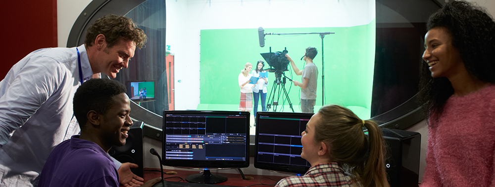 Film Students in a Studio