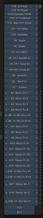 Labelling tracks