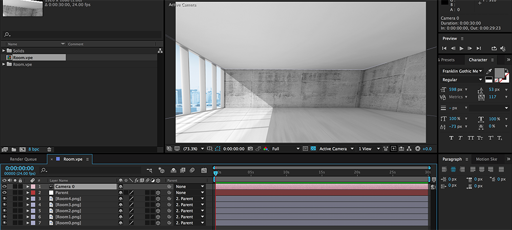 Vanishing Point Opened Up in After Effects