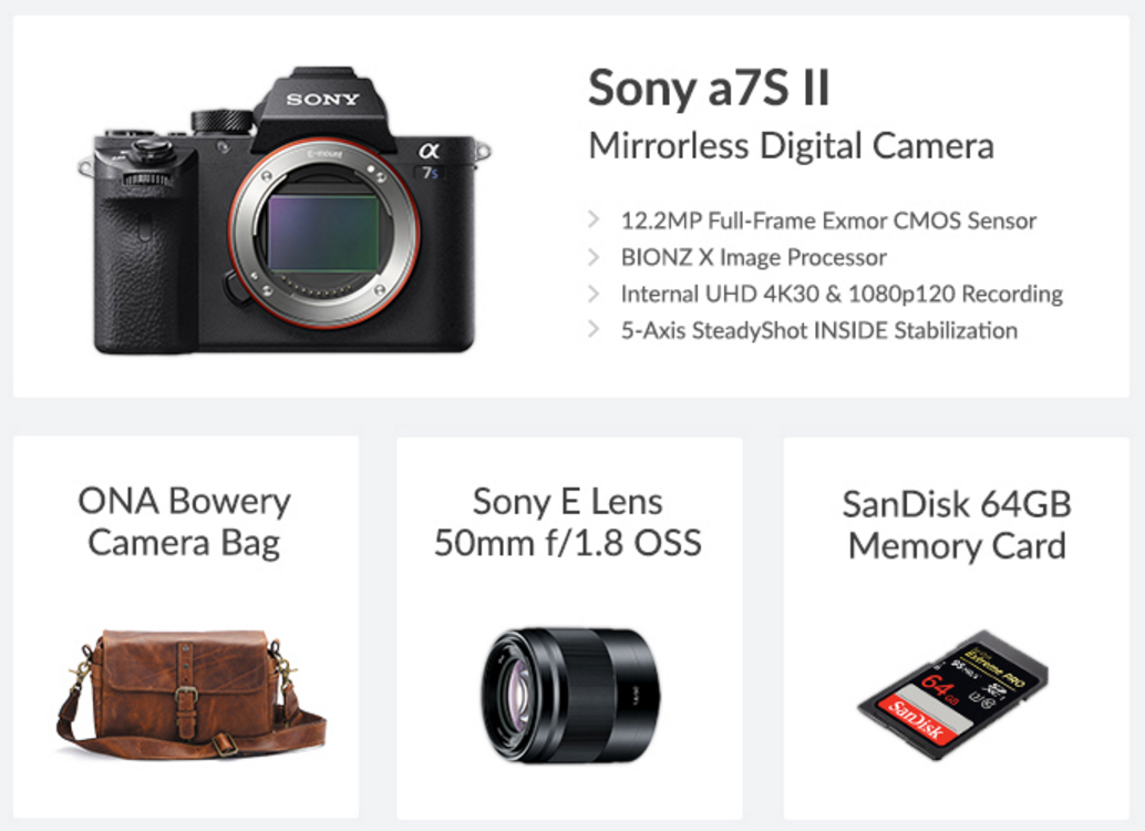Sony a7S II Prize Pack