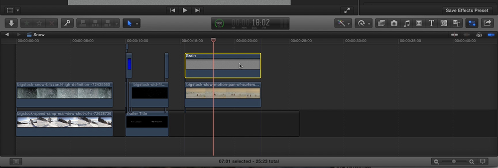 Blending Modes in Final Cut Pro Step 1