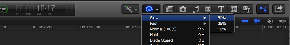 Slow Down the Action With Optical Flow in Final Cut Pro X: Change Speed