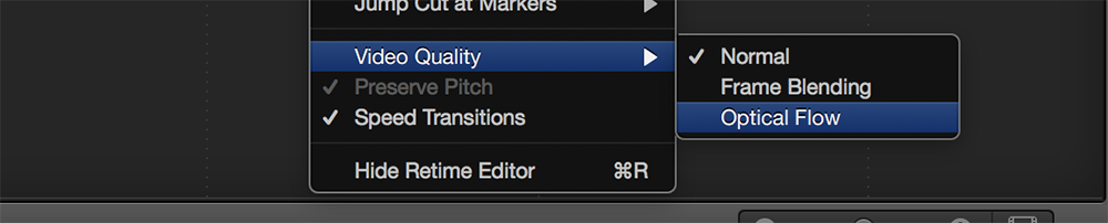 Slow Down the Action With Optical Flow in Final Cut Pro X: Apply Optical Flow