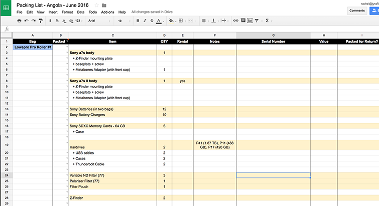 5 International Travel Tips for Filmmakers and Videographers - Spreadsheets