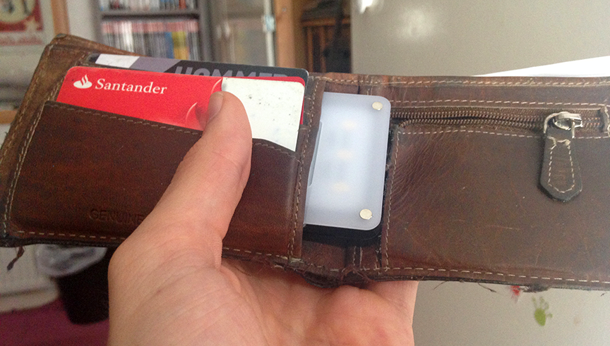 Compact LED Lights for Traveling and Documentary Work — Wallet Light