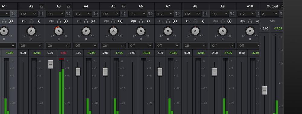 DaVinci Resolve Audio Options