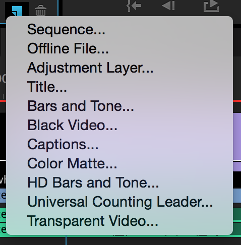 Create a New Item in Adobe Premiere Pro