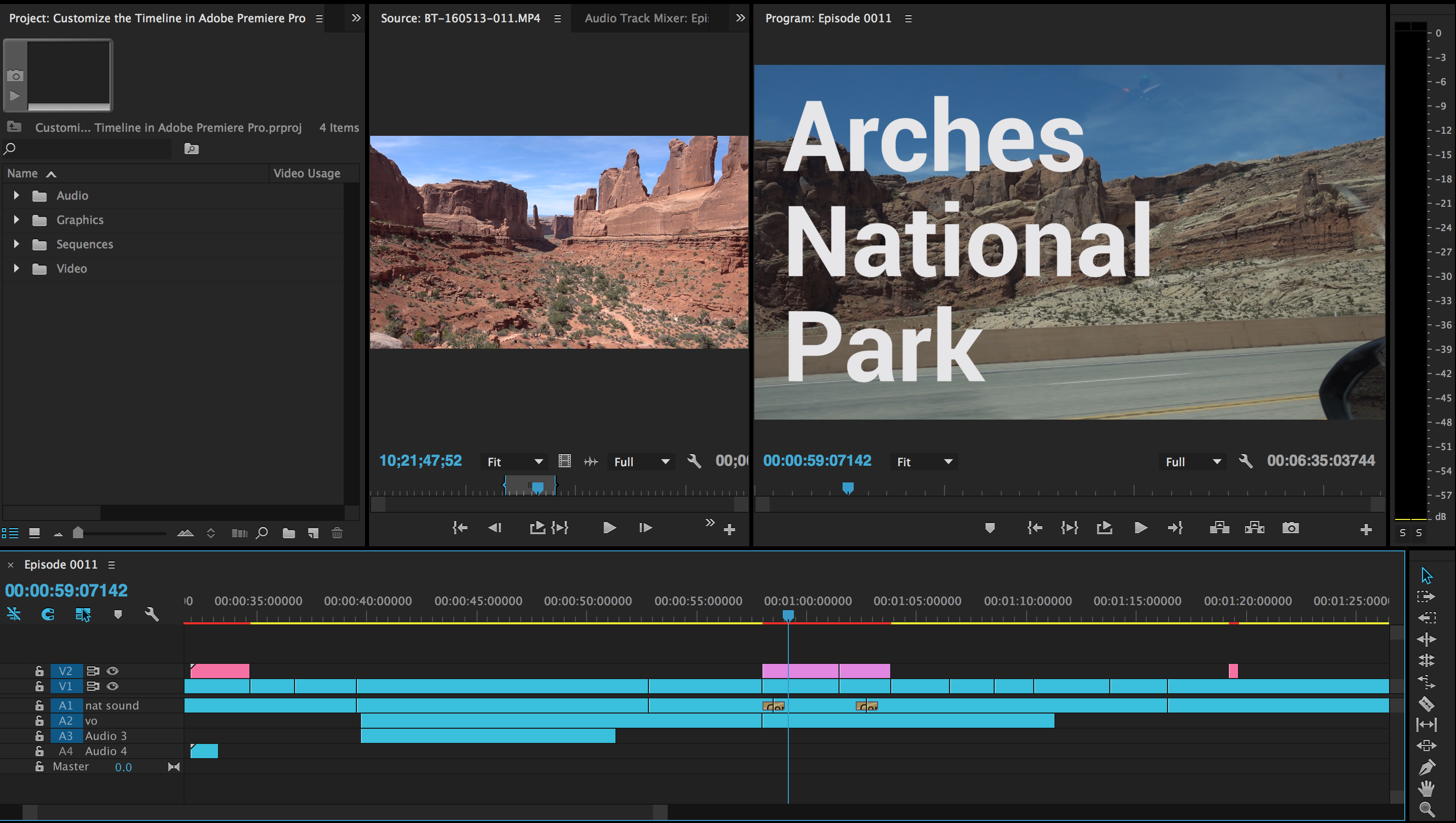 Customize Adobe Premiere Pro Timeline