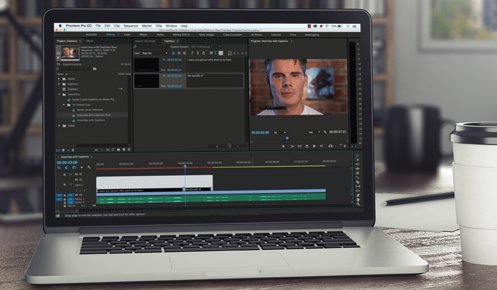 Create Captions in Premiere Pro