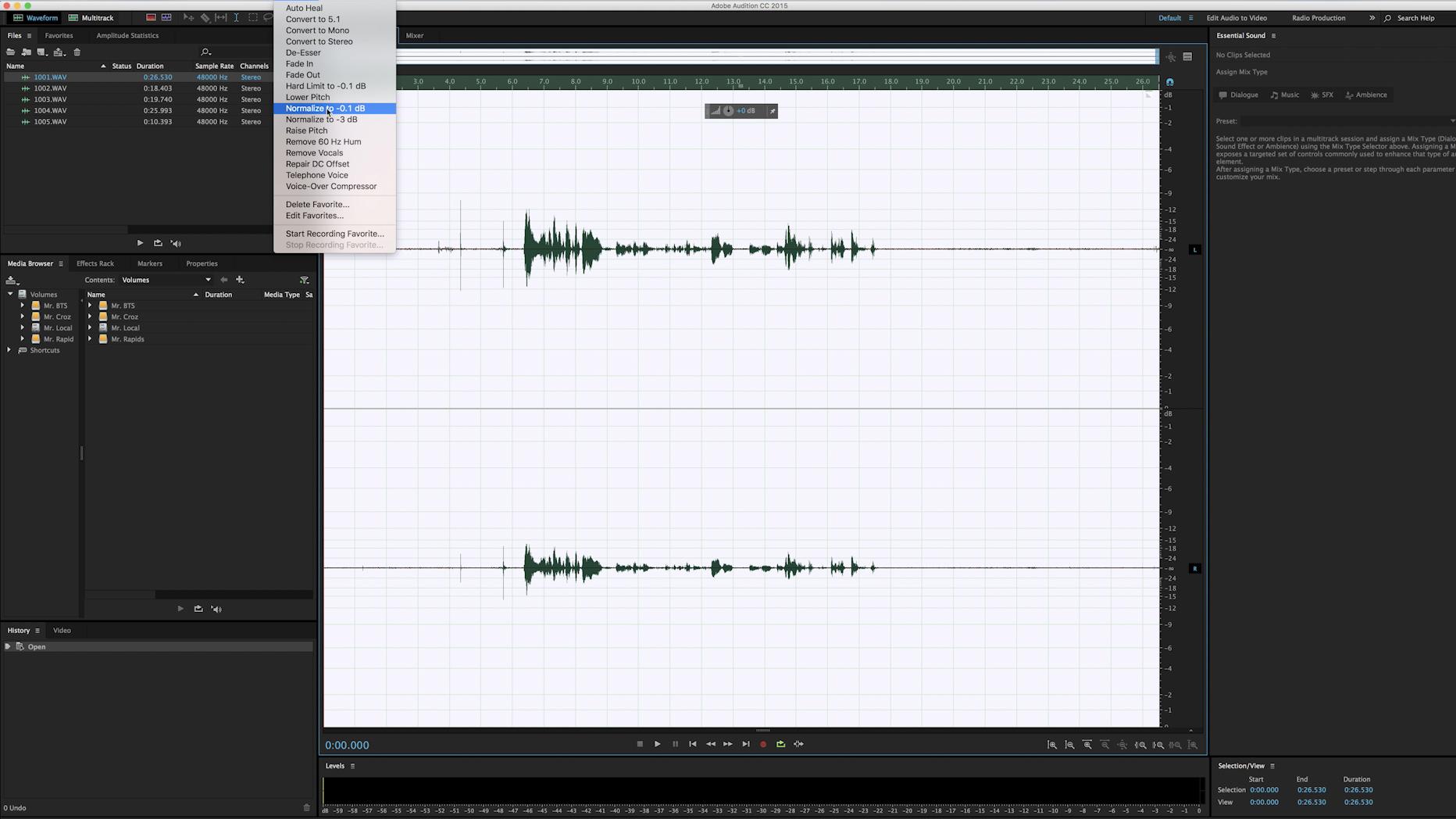 Editing Audio Non-Destructively