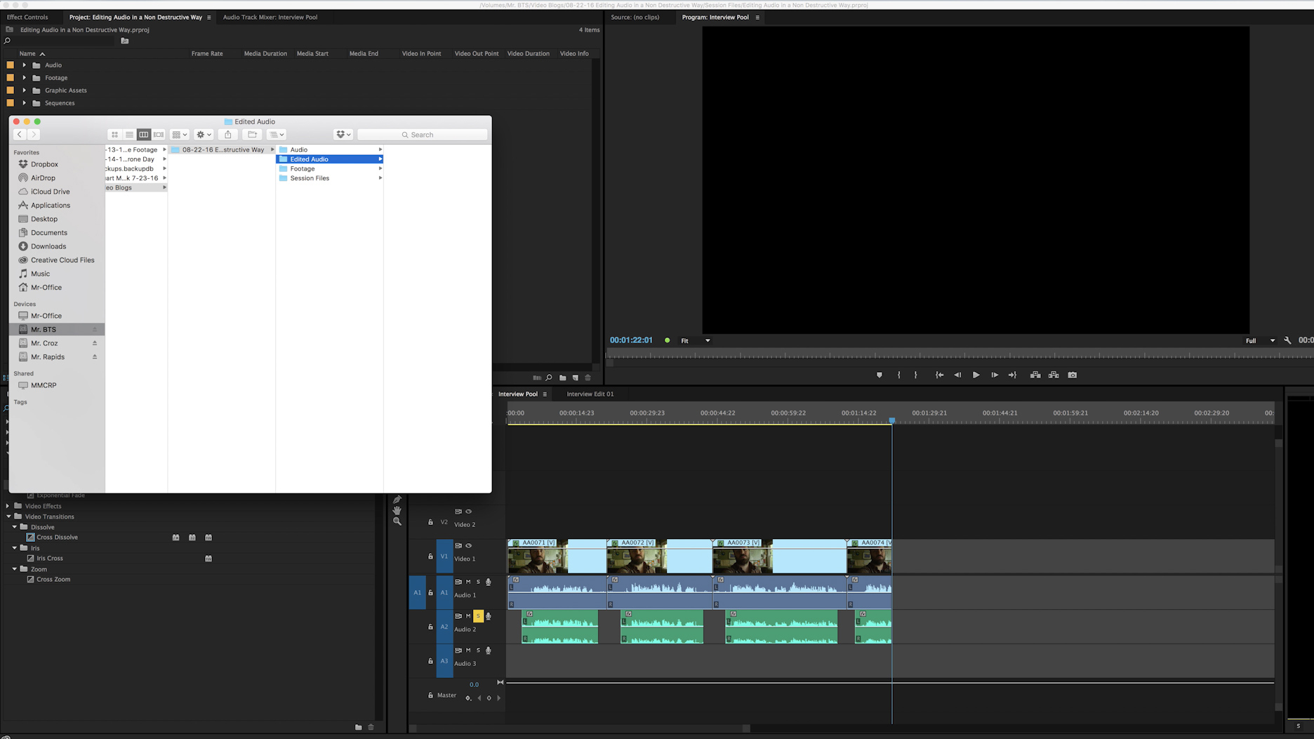 Creating Folder Structures For Audio Editing