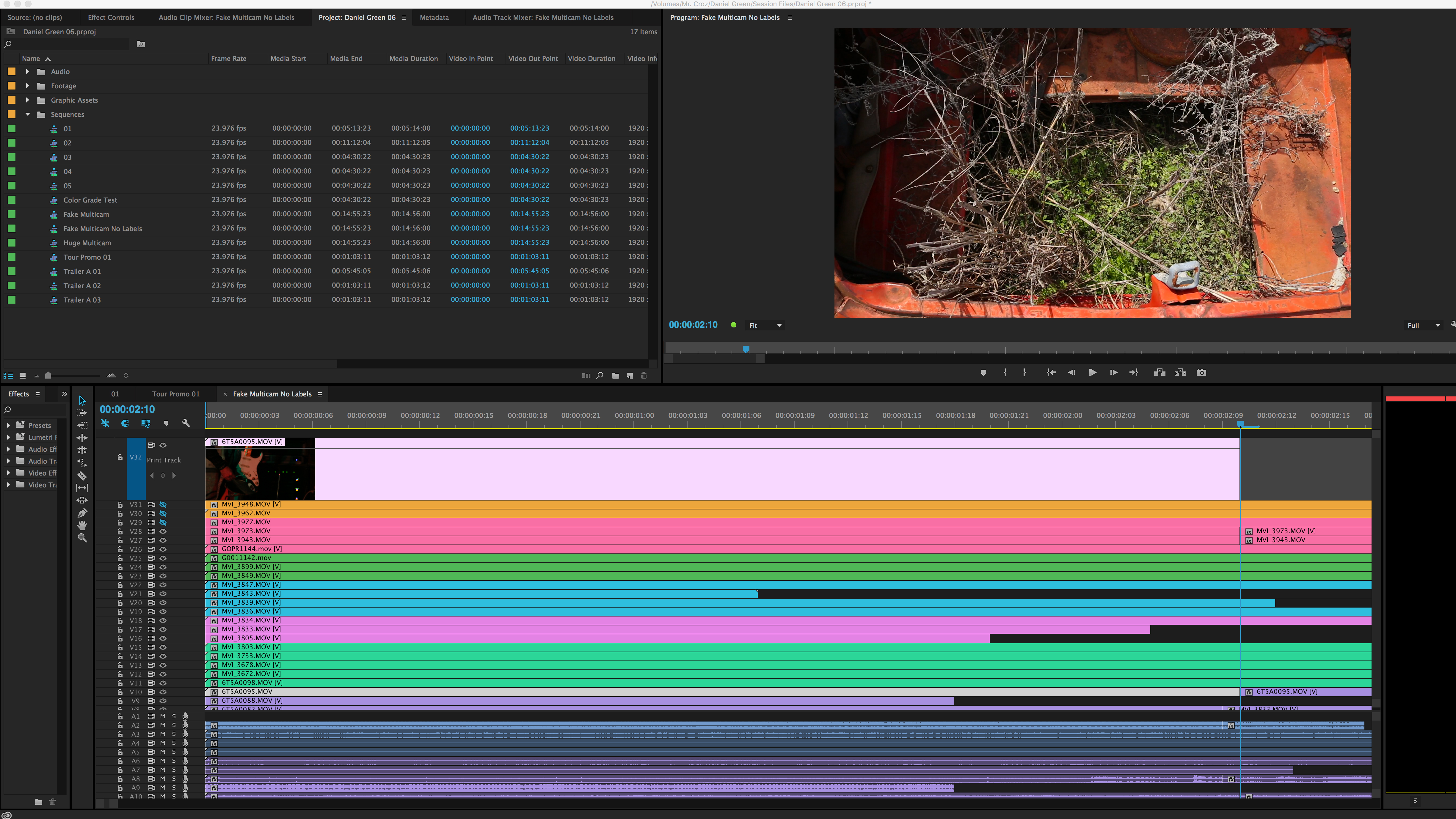 How to Edit a Session With Tons of Camera Angles: Pasted Clip to Targeted Print Track