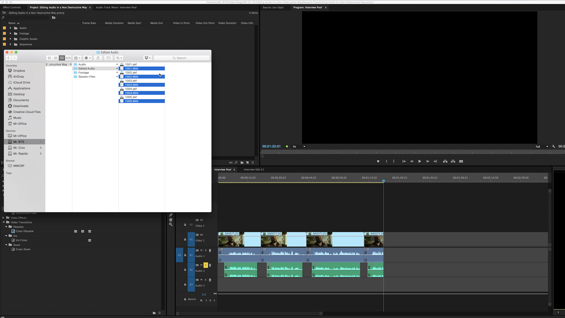 Preserve Original Audio with Audition and Premiere Pro — Metadata