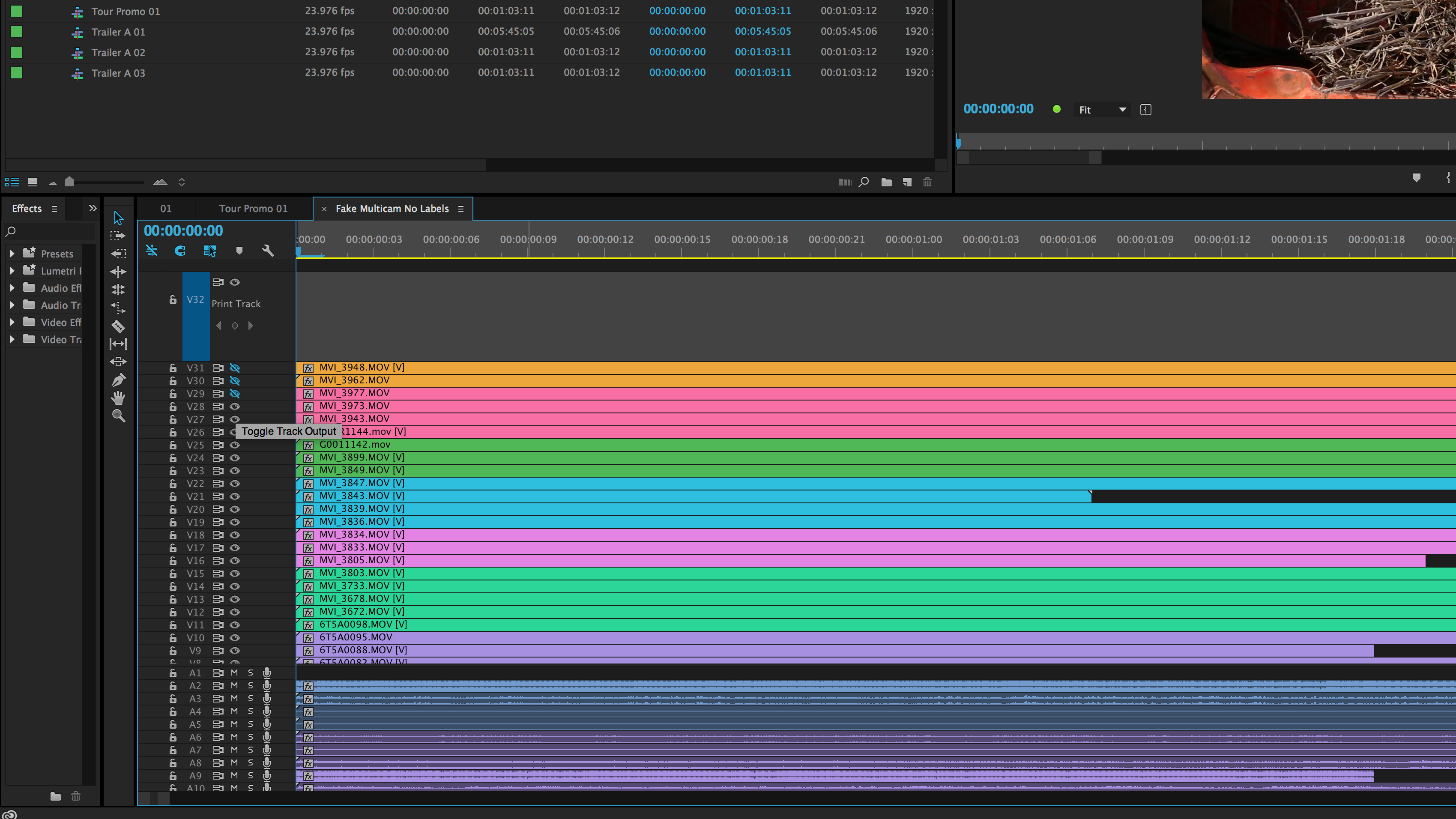 How to Edit a Session With Tons of Camera Angles: Toggle Track Output