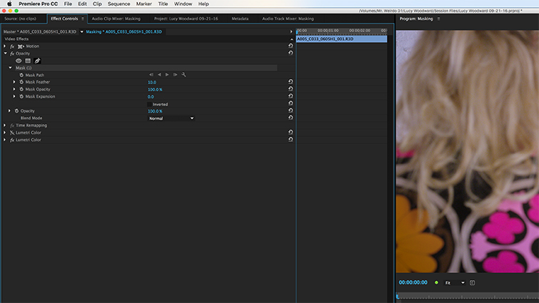 How to Create Masks in Adobe Premiere Pro — Opacity