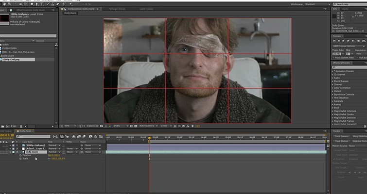Create A Dolly Zoom With Just A Prime Lens - Thirds Grid